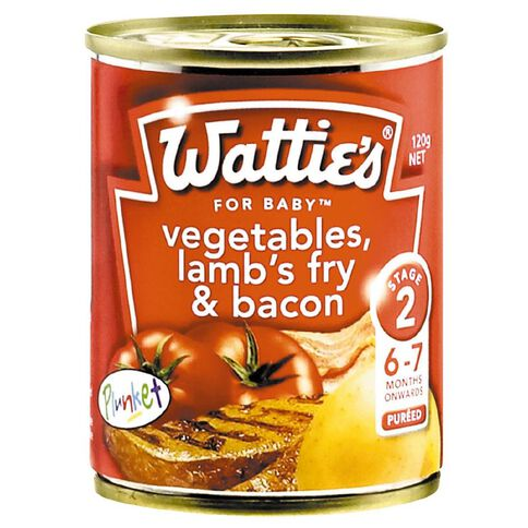 Wattie's Lambs Fry and Bacon Can 120g