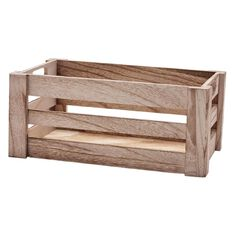 Living & Co Habitat Wood Crate Small 20cm x 32cm x 14cm