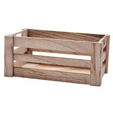 Living & Co Habitat Wood Crate Small 20cm x 32cm x 14cm