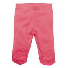 Hippo + Friends Baby Girl Footed Cotton Pants