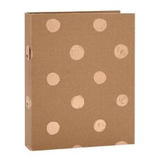 Stylo Kraft Ring Binder with Rose Gold Foil Print