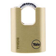 Yale 110 Series Padlock Brass Shrouded 40mm