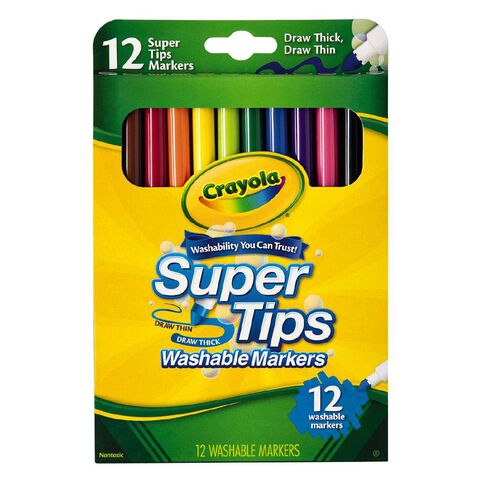 Crayola Washable Supertips Markers 12 Pack
