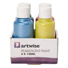Artwise Paint Pearlescent 120ml 4 Pack