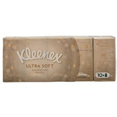 Kleenex Facial Pocket Tissues Ultra Soft Pocket 10 Pack