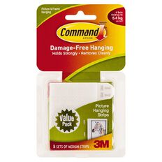 Command Picture Hanging Strips Value Pack Medium 8 Pack