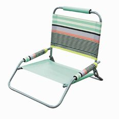 Living & Co Beach Chair with Arms Pastel