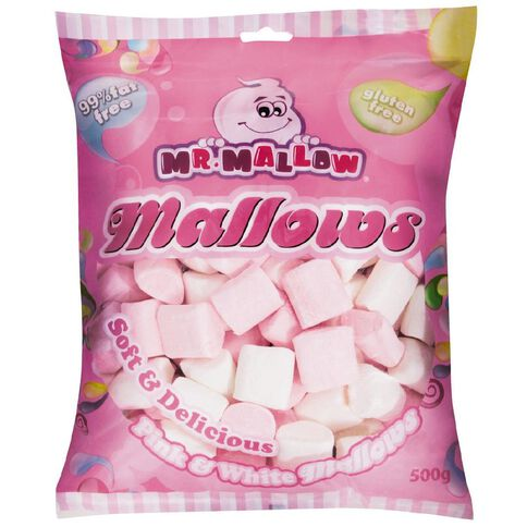 Mr Mallow Pink and White Mallows