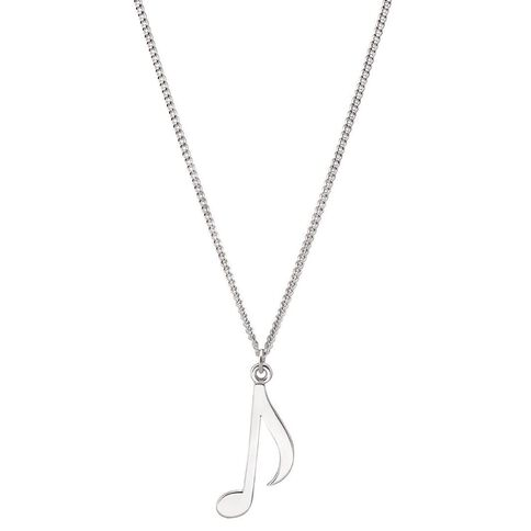 Pia Notes Sterling Silver Note Pendant