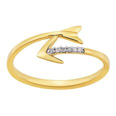 9ct Gold Diamond Arrow Ring