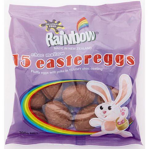 Rainbow Vanilla Flavoured Marshmallow Unfoiled Eggs 15 Pack