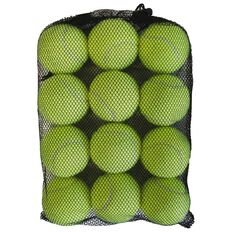 Basics Brand Tennis Balls Yellow 12 Pack