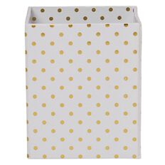 Stylo Pen Holder Cup White with Gold Foil Dots