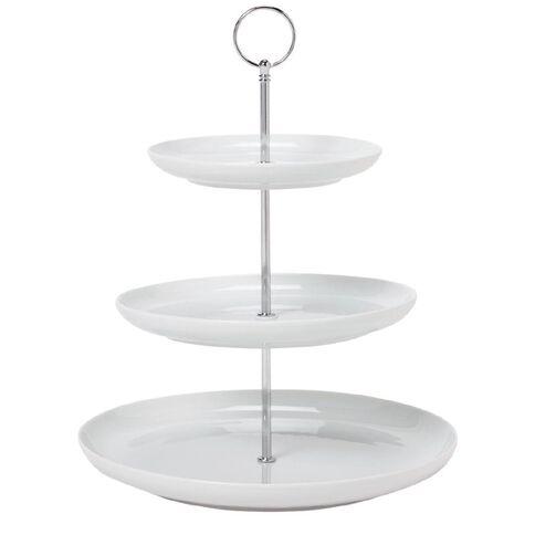 Harrison & Lane Serve Cupcake Stand 3 Tone 28cm White