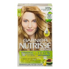 Garnier Nutrisse Permanent Creme Dark Golden Blonde Honeydrop 7.3