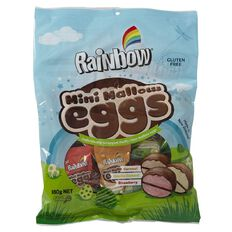 Rainbow Easter Choc Mini Mallow Flavoured Eggs 15 Pack 180g