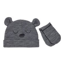 Hippo + Friends Baby Boy Infants' Beanie/Mitten Set