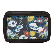 Colour Pop Pencil Case with 3 Zippers Boom
