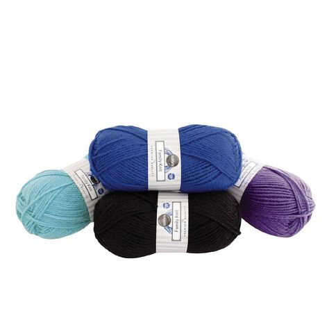 Rosie's Studio Family Yarn Double Knit Black 50g