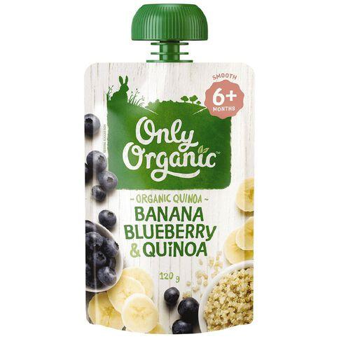 Only Organic Banana Blue Berry & Quinoa Pouch 120g