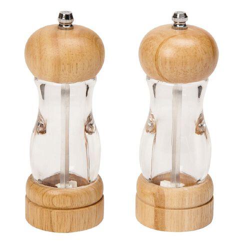 Harrison & Lane Gusto Acrylic & Wood Salt & Pepper Grinder 15cm