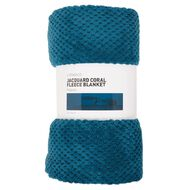Living & Co Blanket Coral Jacquard Teal Queen