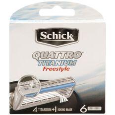 Schick Quattro Titanium Freestyle Blades 6 Pack