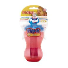 Nuby Flip-It No-Spill Cup Assorted Colours 12m+ 355ml