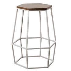 Living & Co Hexagon Stool White