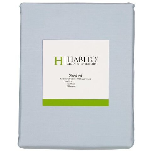 Habito Sheet Set 600 Thread Count Winter Sky King