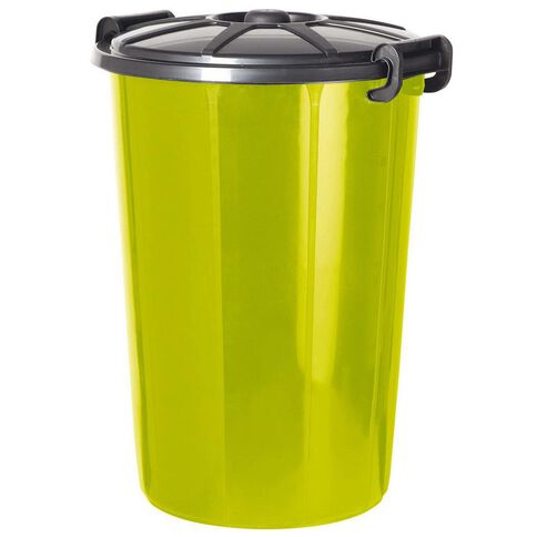 Rubbish Bin with Lid 68L Assorted Colours