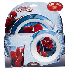Spider-Man Microwave Set 3 Piece