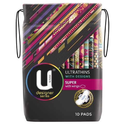 U By Kotex Ultrathin Pads Designs Super Wing 10s