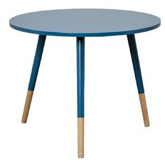 Solano Side Table Paint Dipped Dark Blue