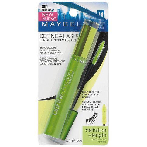 Maybelline Define-A-Lash Lengthening Washable Mascara Very Black