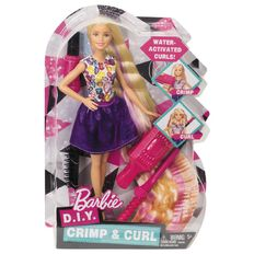 Barbie Crimps & Curls Hair Doll
