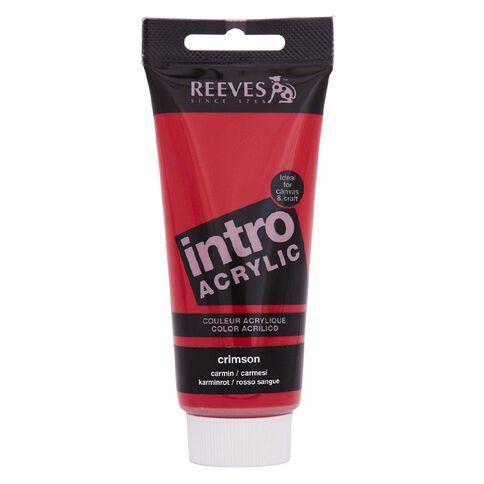 Reeves Intro Acrylic Crimson 100ml