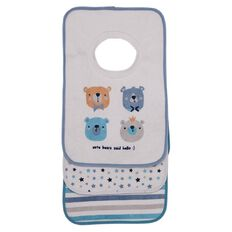 Hippo + Friends Baby Baby Pull Over Bibs 3 Pack