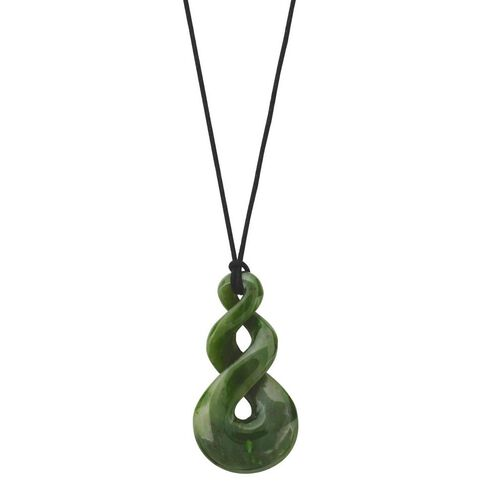 Jade 2 Twisted Pendant