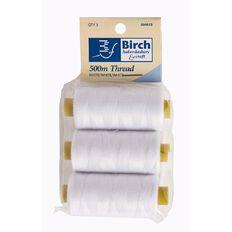 Birch Thread 500m White 3 Pack