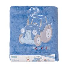 Rocco And Tolly Barnyard Buds Coral Fleece Cot Blanket
