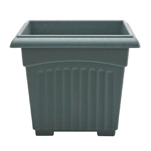 Baba Square Pot 345 Green 34cm x 34cm
