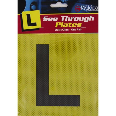 Wildcat L Plates Static Cling Pair