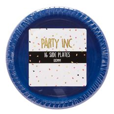 Party Inc Side Plates Blue 180mm 16 Pack