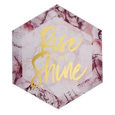 Living & Co Sorrento Hexagonal Canvas Rise & Shine Foil 70cm x 70cm