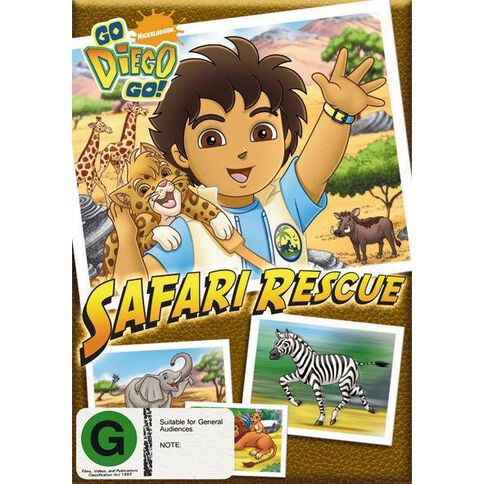 Go Diego Go Safari Rescue DVD 1Disc