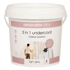 Renovator Plus Undercoat 3-in-1 Light Grey 4L