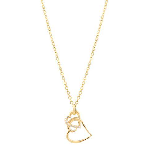 9ct Gold Double Heart Pendant