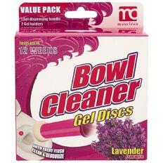 Maxclean Value Pack Toilet Gel Discs Lavender 12 Shots