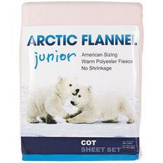 Arctic Flannel Cot Sheet Set Pink